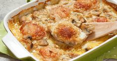 Chicken With Creamy Mushroom Sauce ~ Should be THM with another flour