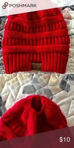 2b2e145d9d74 ponytail beanie knit adult ponytail beanie C.C Accessories Hats