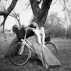 Inspiration By Exploration: Journey Through Fine-Art Photography Cycling Girls, Bicycle Girl, Female Photographers, Black N White, Belle Photo, Photos, Tumblr, Photo And Video, Beauty