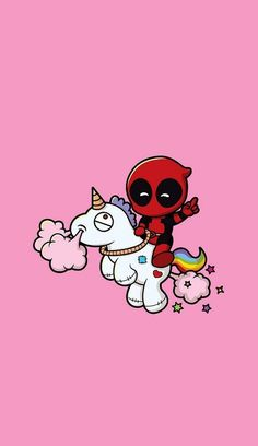 Deadpool and Unicorn iPhone wallpaper #lockscreen