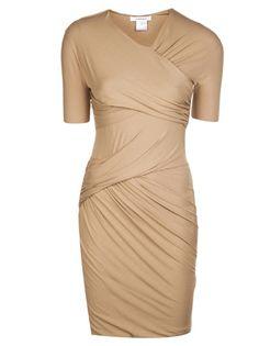 CARVEN Jersey Drape Dress