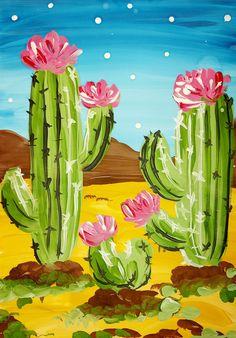 Gouache, Watermelon, Pop Art, Cactus, Landscape, Art Pop