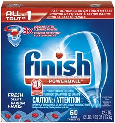 Cheap Finish Automatic Dishwasher Detergent Mega Pack at Publix! Dishwasher Tabs, Dishwasher Detergent, Power Balls, Dish Detergent, Dishwashing Liquid, Mega Pack, It Is Finished, Cleaning, Dishes