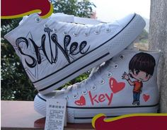 Kpop SHINEE KEY Shoes HandPainted Canvas Shoes by allkpoper, $33.99