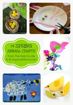 14 Spring Animal Crafts from The Kids Co-Op at B-InspiredMama.com - #kids #binspiredmama #kidscrafts #spring #kbn