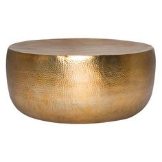 Hammered Metal Drum Coffee Table Sofachairs Pinterest Coffee - Hammered metal drum coffee table