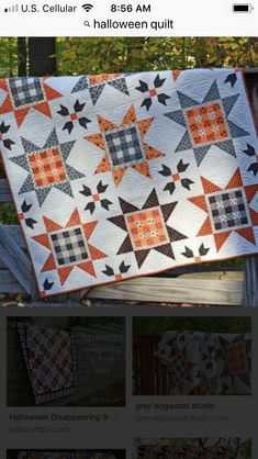 Star Quilt Blocks, Star Quilts, Scrappy Quilts, Mini Quilts, Hunters Star Quilt, Autumn Quilts, Fall Sewing Projects, Orange Quilt, Cute Quilts