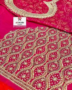 Peacock Embroidery Designs, Hand Embroidery Design Patterns, Embroidery Suits Design, Hand Work Blouse Design, Simple Blouse Designs, Blouse Designs Silk, Wedding Saree Blouse Designs, Maggam Work Designs, Hand Designs