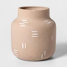 Bring an earthy touch to your indoor decor with this Brown Vase from Project Featuring a rustic, earthenware construction and clean design, this brown Porcelain Jewelry, Fine Porcelain, Porcelain Vase, Porcelain Doll, Painted Porcelain, Round Vase, Clear Glass Vases, Target Home Decor, Christmas Balls