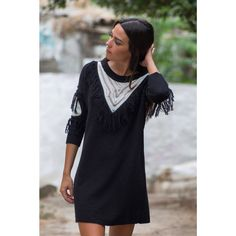 Knitted sweater with fringes /by Nadia Rapti