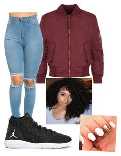 """Bomber Jacket"" by stylist104 on Polyvore featuring WearAll and NIKE"