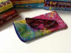 Sunglass Eyeglass Cover Case Batik Fabric Lined by greenlioness, $9.50