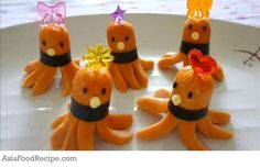 Japanese-style bento lunches for kids often feature the infamous octodog, a mini-sausage shaped like an octopus.