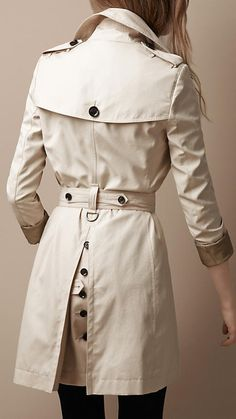 Burberry oversize collar trench coat cont'd...love the button detail in the back