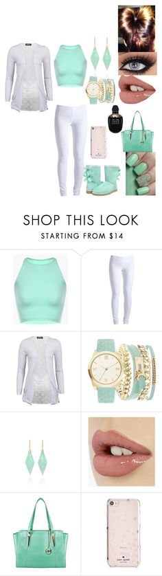 """""""Untitled #2786"""" by alize-roshaun-sims ❤ liked on Polyvore featuring UGG Australia, Pieces, A.X.N.Y., Jamie Wolf, McKleinUSA, Kate Spade and Alexander McQueen"""