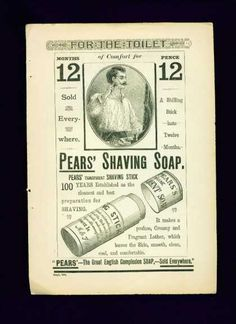 1800 advertisements | 1888 Pears shaving soap | 1800 ads