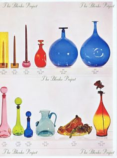 The Blenko Project is dedicated to recording the past, analyzing the present and being an advocate for the growth and preservation of BLENKO GLASS. Vintage Decor, Vintage Antiques, Blenko Glass, Rainbow Glass, Glass Company, Glass Collection, Antique Glass, Blown Glass, Colored Glass