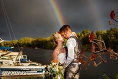 Love how this double rainbow appeared just after this couple were married! Storybook Wedding, Wedding Book, Portrait Photography, Wedding Photography, Rainbow, Couple Photos, Concert, Couples, Books