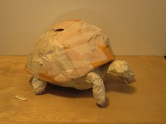 Today I started a small sculpture of an endangered Ploughshare Tortoise, (Geochelone yniphora) — also known as the Angonoka, Madagascar Angulated Tortoise… Paper Mache Crafts For Kids, Paper Mache Projects, Paper Crafts, Paper Clay, Paper Art, Salt Dough Projects, James And Giant Peach, Small Sculptures, Forest School