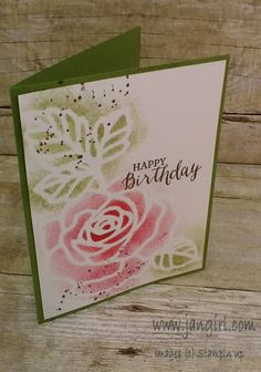 Stampin' Up Rose Wonder birthday card see my blog for details: www.jangirl.com
