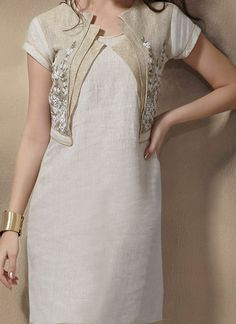 Shop now all the latest Kurti designs for women. Explore Cbazaar's huge collection of party wear and casual wear Indian Kurtis featuring a huge variety. Salwar Designs, Kurti Neck Designs, Dress Neck Designs, Blouse Designs, Pakistani Dresses, Indian Dresses, Indian Outfits, Indian Attire, Indian Wear