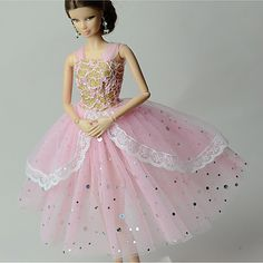 6cfb07a4cfdd Princess Dresses For Barbie Doll Dresses For Girl s Doll Toy 2018 -  7.99  Cheap Dolls