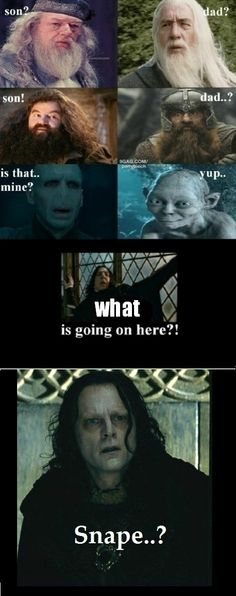 It would actually be switched, because the characters in LotR are so much older...