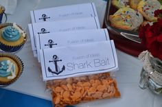 Little Bald One: Nautical Anchor Beach Bonfire Theme Party