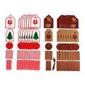 IKEA JULMYS Étiquette, lot de 40 motifs divers (JULMYS Label, set of 40 assorted patterns) - Référence: 20223368