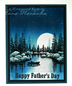 Night Canoe by annascreations - Cards and Paper Crafts at Splitcoaststampers