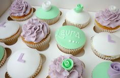 Lilac and mint green hen party cupcakes by Star Bakery (Liana), via Flickr