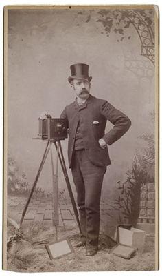 Cabinet card of amateur photographer