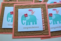 Julie's Japes - A Top Independent Stampin' Up! Demonstrator in the UK: Team Training Swaps -- Zoo Babies