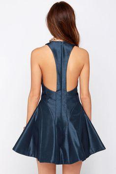 51b90503b9 Keepsake Fallen Navy Blue Dress at Lulus.com! Navy Blue Dresses