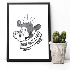 Vegan Don't Have A Cow  black white grey distressed by HMHeroes