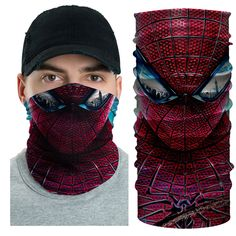 Joker Face, Skull Mask, Mouth Mask, Grunge Hair, Male Face, Unique Fashion, Hair Band, Spiderman, Mtb