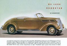 1937 Ford V-8 De Luxe Roadster - Promotional Advertising Poster