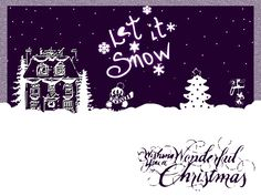 Let It Snow-Winter Background!