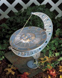 Sun and Moon Sundial   Garden Sundials by Whitehall