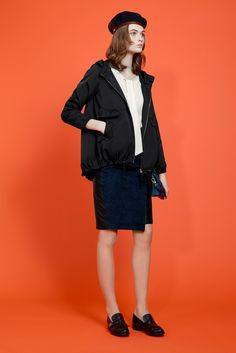 Paule Ka Pre-Fall 2015 - Collection - Gallery - Style.com  I'd pay BIG money to the first person to style a beret properly. It SHOULDN'T look like this. OMG. Jacket is cool tho.