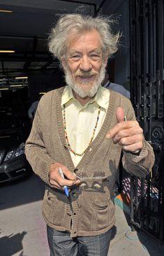 Ian McKellen Photos: Sir Ian McKellen Leaves London Studios