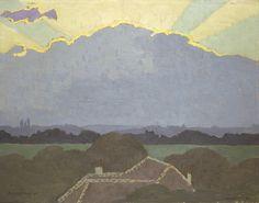 Nuage à Romanel Félix #Vallotton #landscape #montableau buy online now