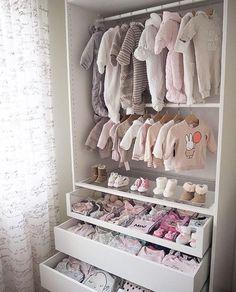 So cute! From Pax from IKEA. So cute! From Pax from IKEA. The post So cute! From Pax from IKEA. appeared first on Kinderzimmer ideen. Baby Bedroom, Baby Room Decor, Kids Bedroom, Room Baby, Room For Baby Girl, Twin Baby Rooms, Girl Decor, Bedroom Decor, Baby Zimmer