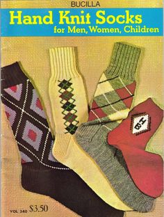 Hand Knit Socks for Men, Women, Children Pattern Book