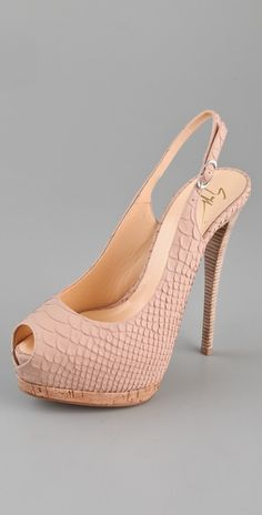 Stylmee - Giuseppe Zanotti Open Toe Sling Back Pumps $695  #8 of 10 from our fashion challenge  #fashiongame #fashion