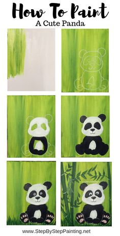 How To Paint A Panda This is a super easy acrylic painting tutorial that comes with a free template traceable for the panda. Learn how to paint a cute panda using only a few paint colors. Great for the absolute beginner and kids! Simple Canvas Paintings, Easy Canvas Painting, Easy Acrylic Paintings, Acrylic Painting For Kids, Panda Painting, Painting & Drawing, Beginner Painting, Painting Ideas For Beginners, Painting Ideas For Kids