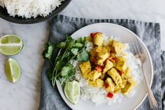This coconut curry chicken is a healthy dinner that's packed with flavor. The chicken simmers in curry spice and coconut milk for an easy, one-pan meal.