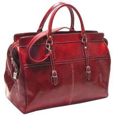 fe2808baf766 Floto Unisex Casiana Tote Carryon Italian Polished Calf-Skin Leather
