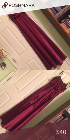 Evening gown Burgundy/maroon satin dress. Worn once. Great for prom or formal occasions. 100% polyester Dresses Prom
