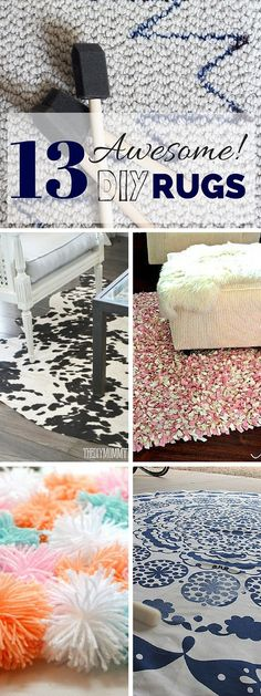 Awesome #DIY rug #crafts projects you could be doing right now! #homedecor